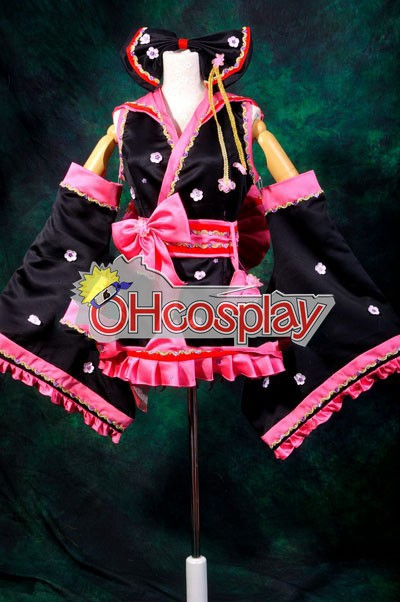 Ruler Vocaloid Miku Sakura Kimono Lolita Cosplay Kostymer