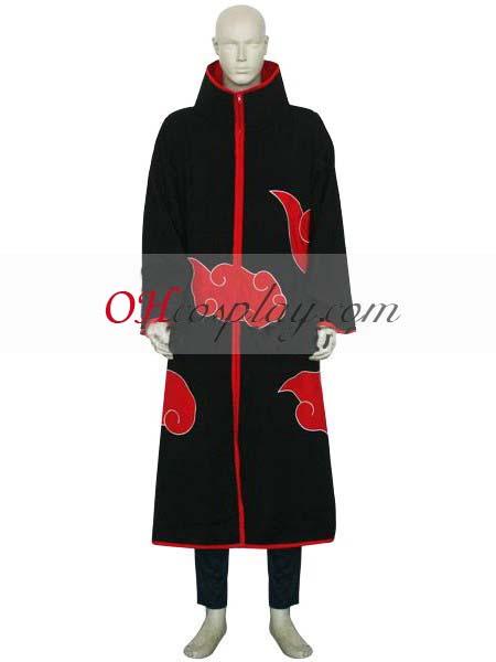 Наруто костюми Akatsuki Itachi Uchiha Deluxe Мъжка Cosplay костюми и аксесоари Set ENR0001