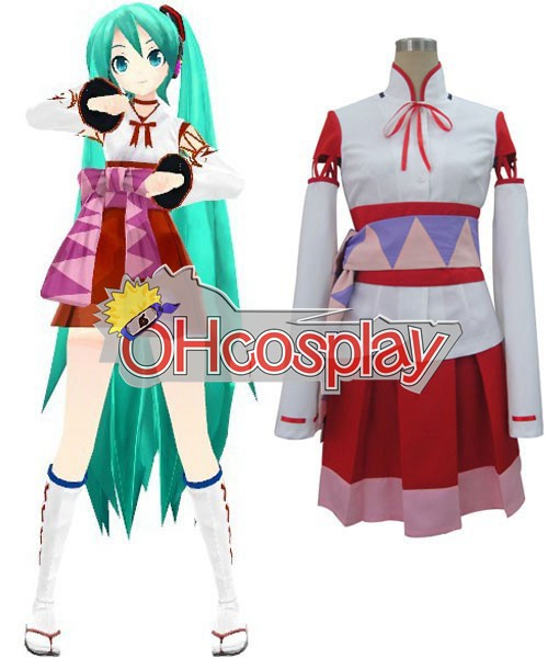 Vocaloid Project Diva F White Кимоно Miku Cosplay костюми