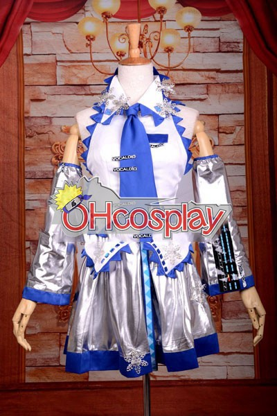 Vocaloid Snow Miku Deluxe Cosplay Costume