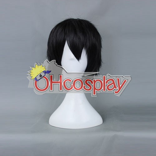 Безплатно! Харука Nanase Черно Cosplay перука-159B