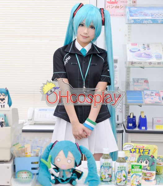 Vocaloid Family Mart Miku Cosplay Costume