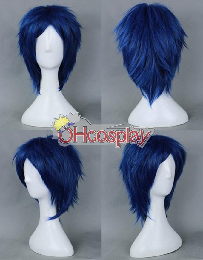 Gratis! Rei Ryugazaki azul oscuro cosplay peluca-012E