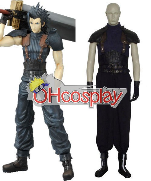 Final Fantasy Kostymer VII Zack Fair Cosplay Kostymer Size Large