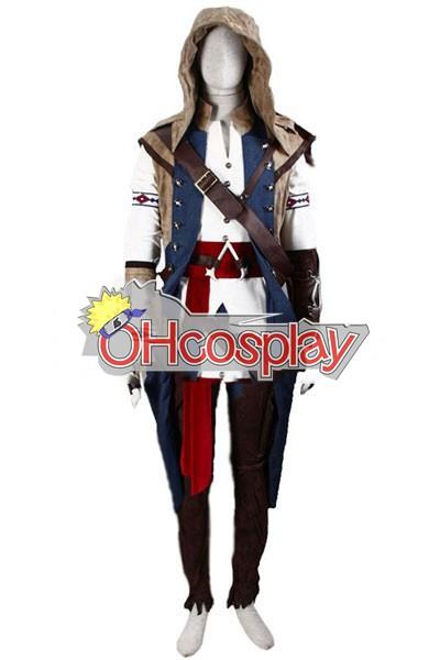 Assassin и Крийд костюми III Connor Render Cosplay костюми - Deluxe Version