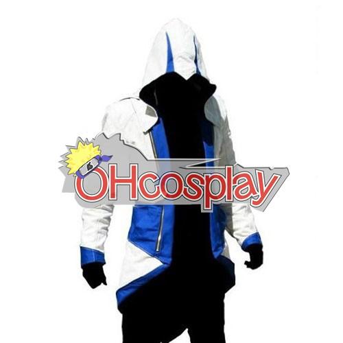 Assassins Creed Fastelavn Kostumer II Ezio White & Blue udklædning Hoodie