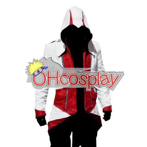 Assassins Creed Costume II Ezio White & Red Cosplay Hoodie