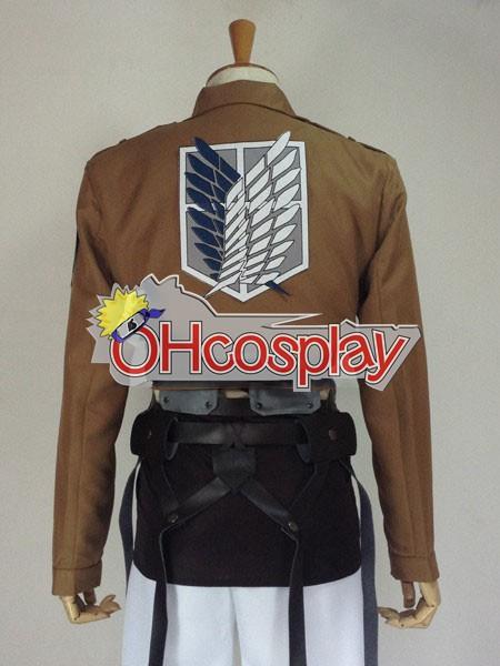 Атака на Титан костюми Survey Corps Dororo Levi Cosplay костюми + наметало
