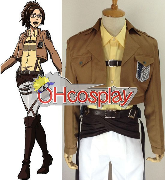 Attack on Titan Costume (Shingeki no Kyojin) Hanji Zoe Survey Crops Cosplay Costume