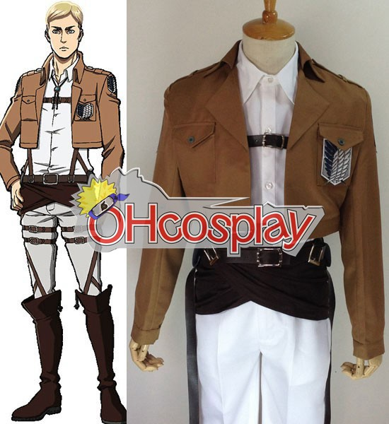 Attack on Titan Kostuums (Shingeki no Kyojin) Elvin Smith Survey Crops Cosplay Kostuums