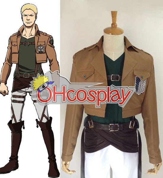 Attack on Titan Costume (Shingeki no Kyojin) Reiner Braun Survey Crops Cosplay Costume
