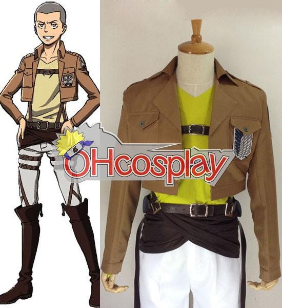 Attack on Titan Costume (Shingeki no Kyojin) Connie Springer Survey Crops Cosplay Costume