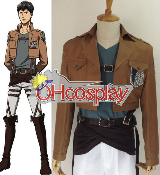 Attack on Titan Kostuums (Shingeki no Kyojin) Bertolt Huber Survey Crops Cosplay Kostuums