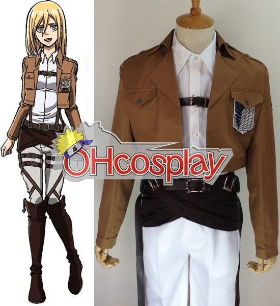 Attack on Titan Costume (Shingeki no Kyojin) Krista Lenz Survey Crops Cosplay Costume
