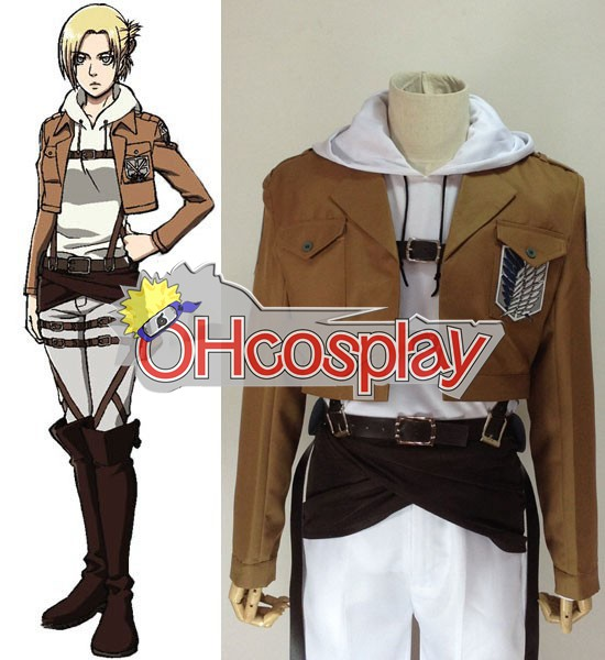 Attack on Titan Costume (Shingeki no Kyojin) Annie Leonhart Survey Crops Cosplay Costume