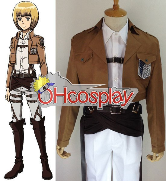 Attack on Titan Puku (Shingeki no Kyojin) Armin Arlert Survey Crops Cosplay Puku