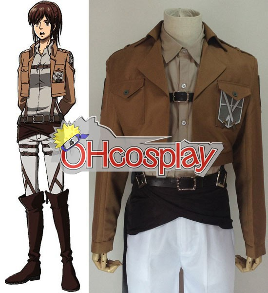 Attack on Titan Cosplay (Shingeki no Kyojin) Sasha Blause Training Crops Cosplay Costume
