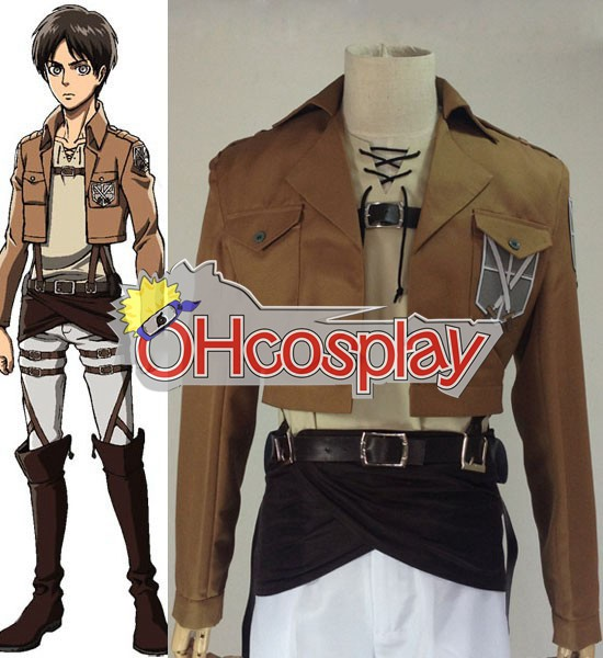 Attack on Titan Cosplay (Shingeki no Kyojin) Eren Jaeger Training Crops Cosplay Costume