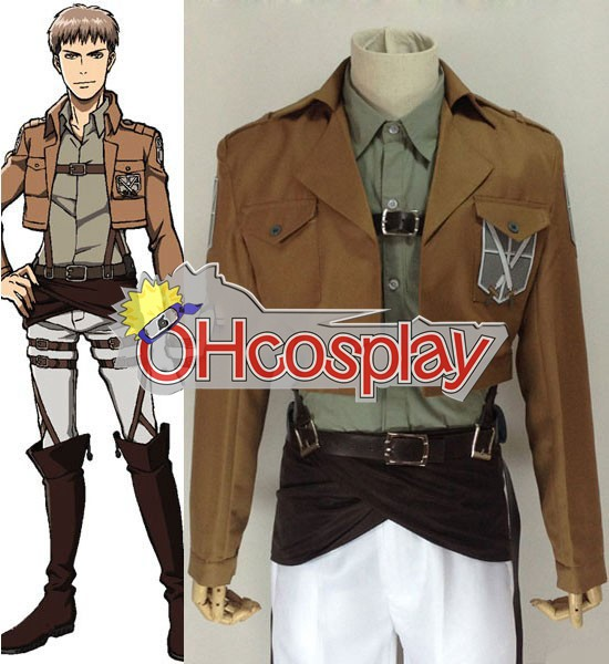 Attack on Titan Costume (Shingeki no Kyojin) Jean Kirstein Training Crops Cosplay Costume