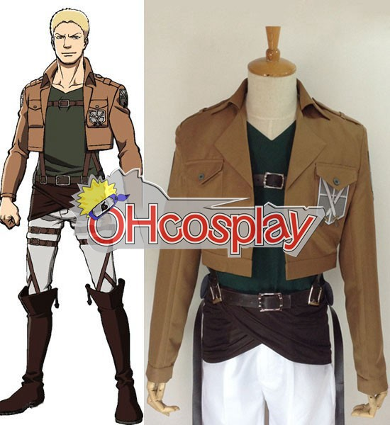 Attack on Titan Cosplay (Shingeki no Kyojin) Reiner Braun Training Crops Cosplay Costume