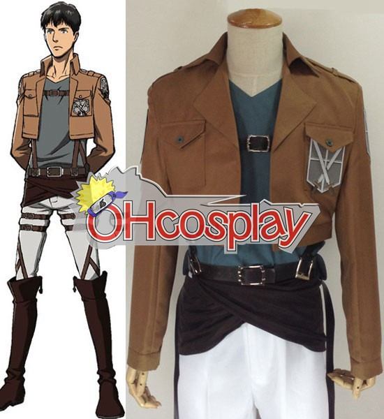 Attack on Titan Kostuums (Shingeki no Kyojin) Bertolt Huber Training Crops Cosplay Kostuums