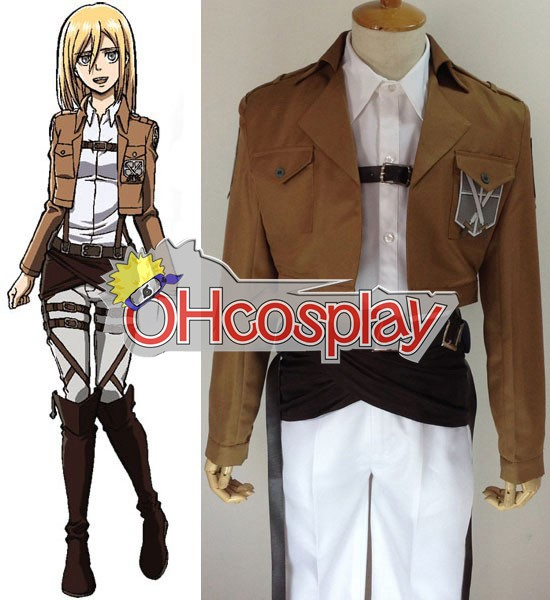 Attack on Titan Costumes (Shingeki no Kyojin) Krista Lenz Training Crops Cosplay Costume