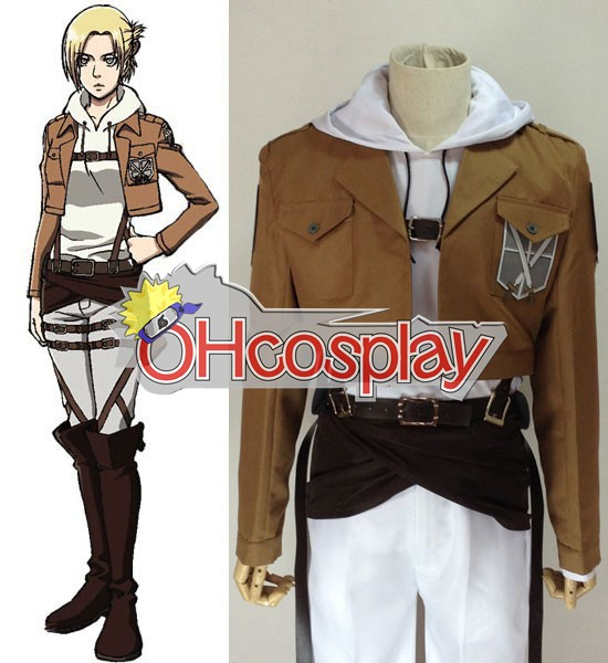 Attack on Titan Puku (Shingeki no Kyojin) Annie Leonhart Training Crops Cosplay Puku