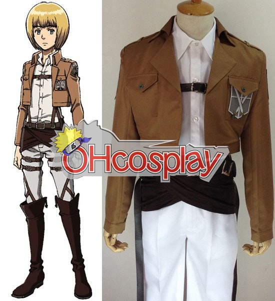 Attack on Titan Costume (Shingeki no Kyojin) Armin Arlert Training Crops Cosplay Costume