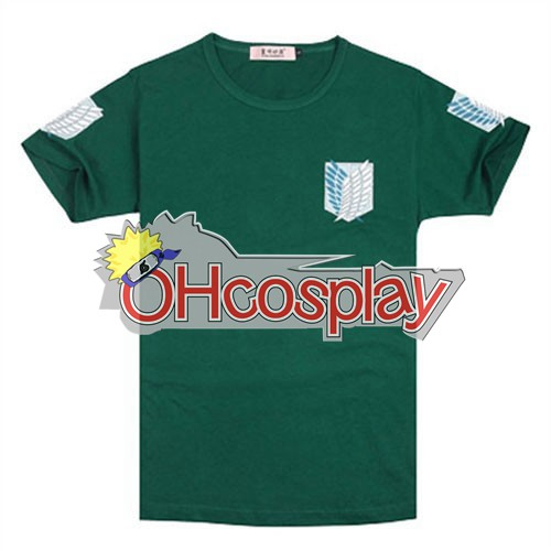 Attack on Titan Costumes Survey Corps GreeN Shirt Cosplay Costume