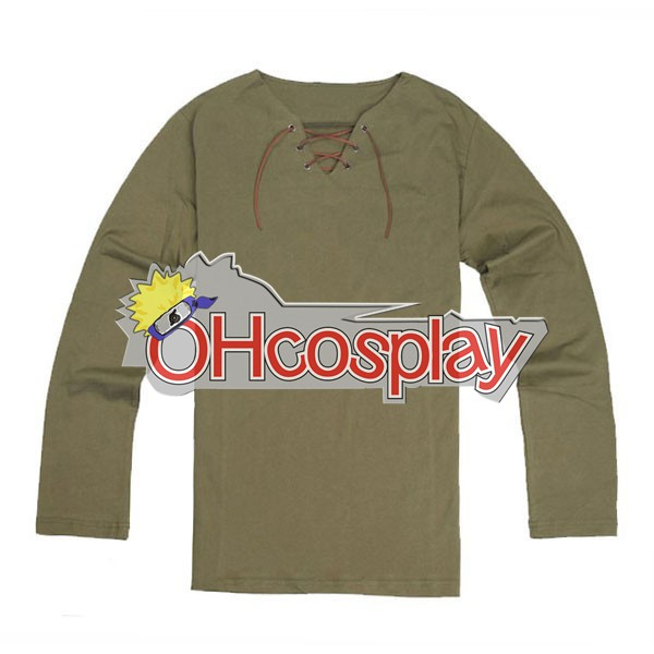 Attack on Titan Costumes Eren Long Shirt Cosplay Costume