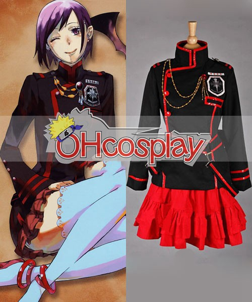 D.Gray-Man Lenalee 3Rd Uniform Cosplay Karneval Kläder