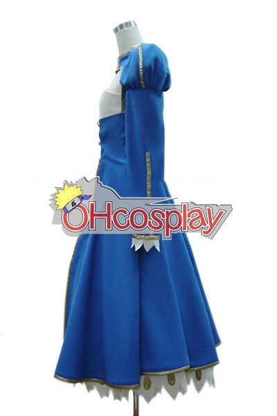 Fate Zero Saber Cosplay Karneval Kläder Normal Version