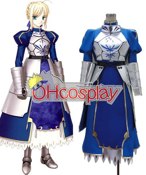 Fate Zero Saber Armor Cosplay Kostymer Deluxe Version