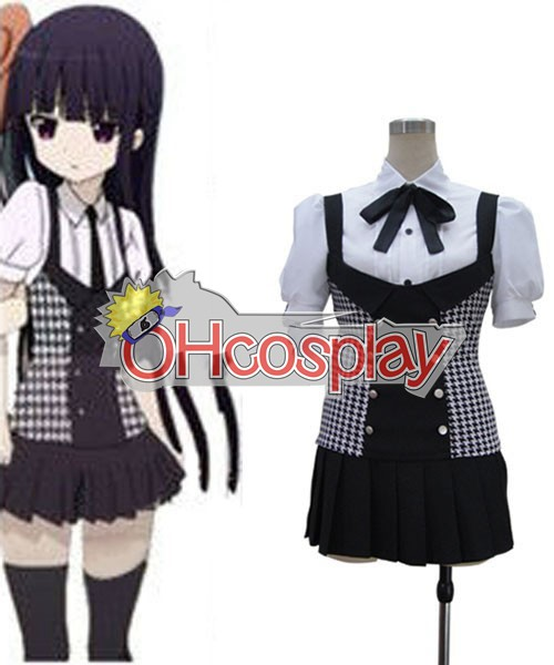 Inu x Boku SS Ririchiyo Shirakiin Plaid Skirt Cosplay Puku