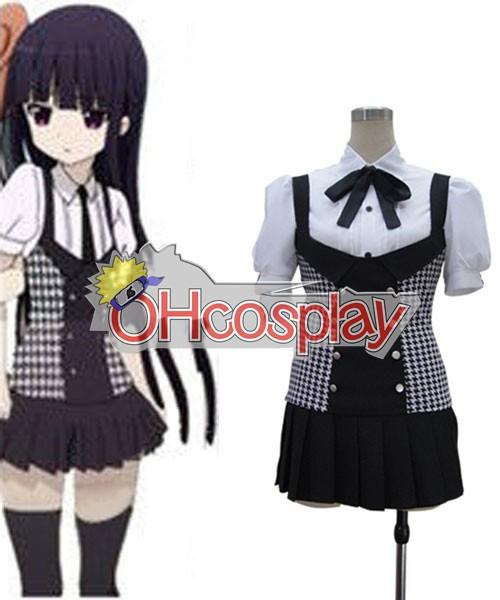 Inu x Boku SS Ririchiyo Shirakiin Plaid Skirt Cosplay Wiene