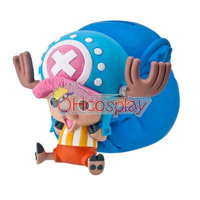 One Piece Costume Chopper Money-box Hand-done Model Doll Anime Toys