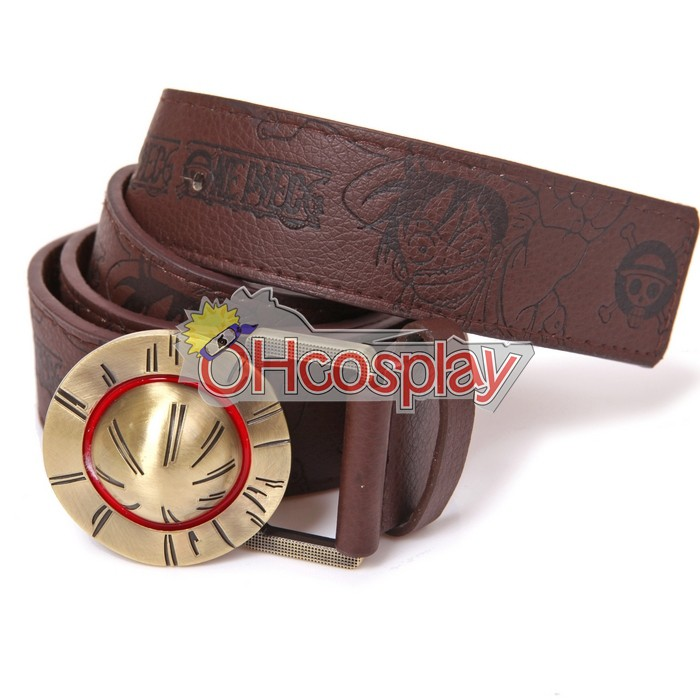 Costumi Carnevale One Piece leather Belt luffy hat buckles anime belts cosplay for men women