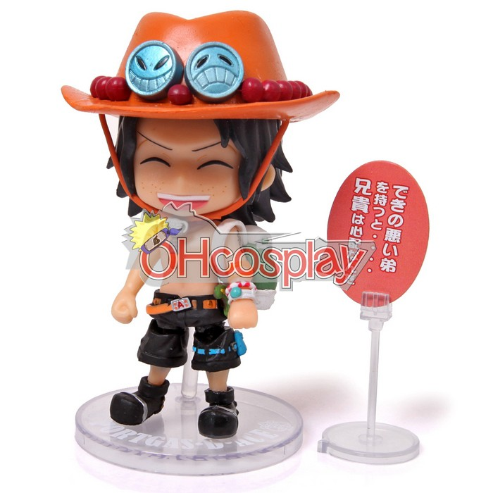 One Piece Costumes Cute ACE Garage Kit Model Doll Anime Toys