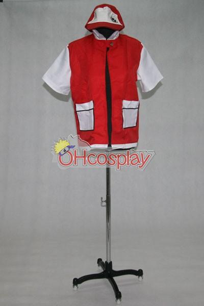 Pokemon Fastelavn Kostumer Ash Ketchum Red Jacket udklædning Fastelavn Kostumer