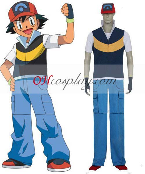 Pokemon Costumes Ash Ketchum Cosplay Costume