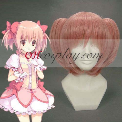 Puella Magi Kostüm Madoka Magi Kostümca Kostüm kaname madoka Pink Cosplay Wig-208A
