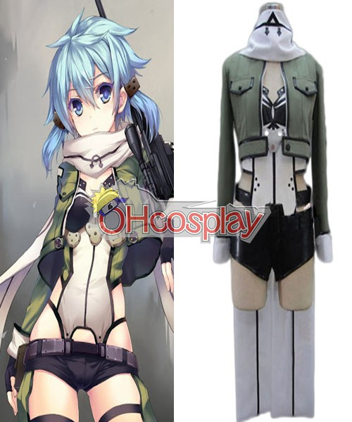 Sword Art Online Costume (Gun Gale Online) Sinon Cosplay Costume