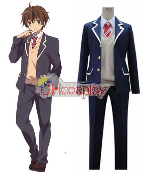 Chunibyo Fastelavn Kostumer Togashi Yuta School Uniform udklædning Fastelavn Kostumer