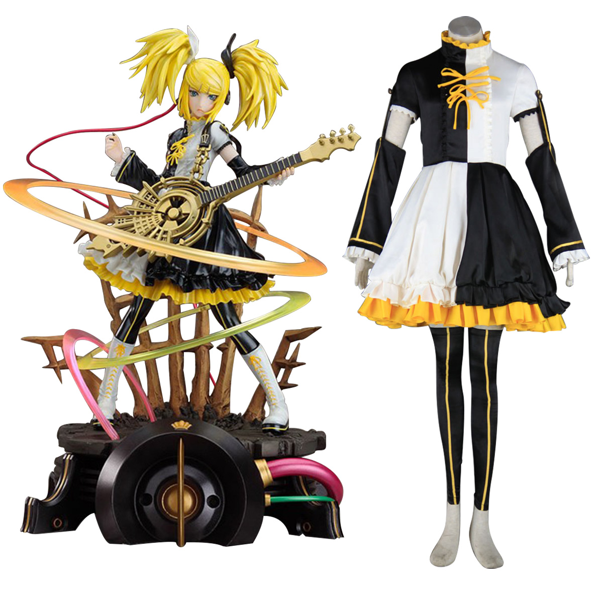 Deluxe Vocaloid Kagamine Rin & Len 2NT Cosplay Costumes