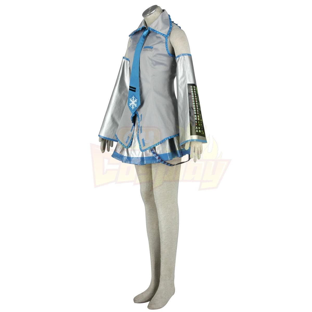 Fantasias Vocaloid Snow Miku 1 Trajes Cosplay
