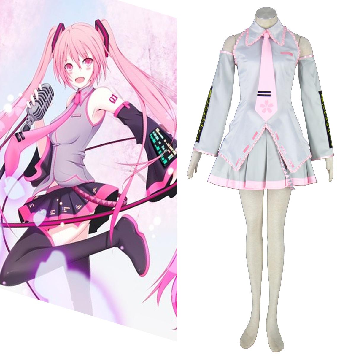 Λουξ Vocaloid Sakura Hatsune Miku 2 Cosplay Κοστούμια