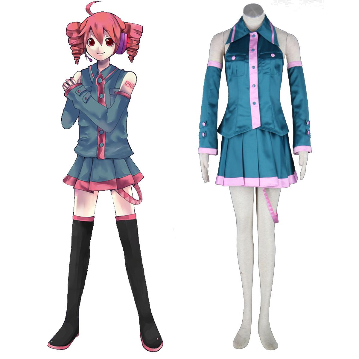 Luxusný Vocaloid kasane teto 1 Cosplay Kostýmy
